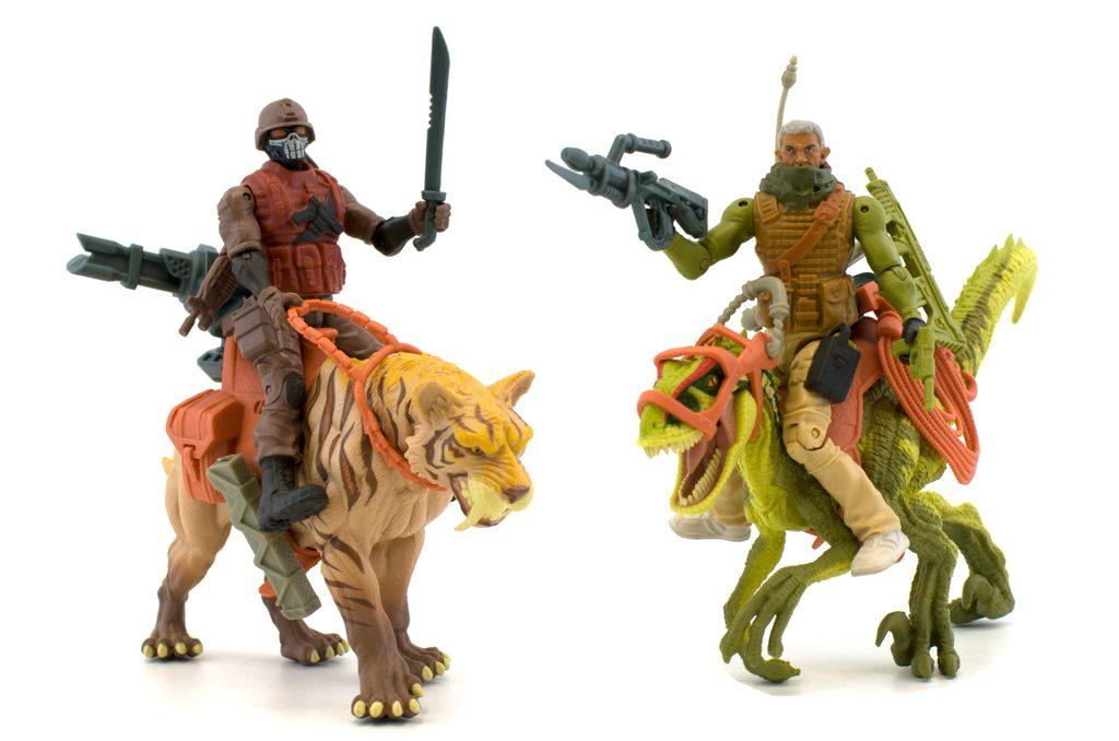 Dinosaurus set dvou predátorů s bojovníky, Jurassic Clash, W282331