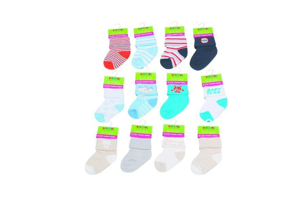 Kojenecké ponožky chlapecké  (0 až 6m), Pidilidi, PD501, kluk - 0-6m