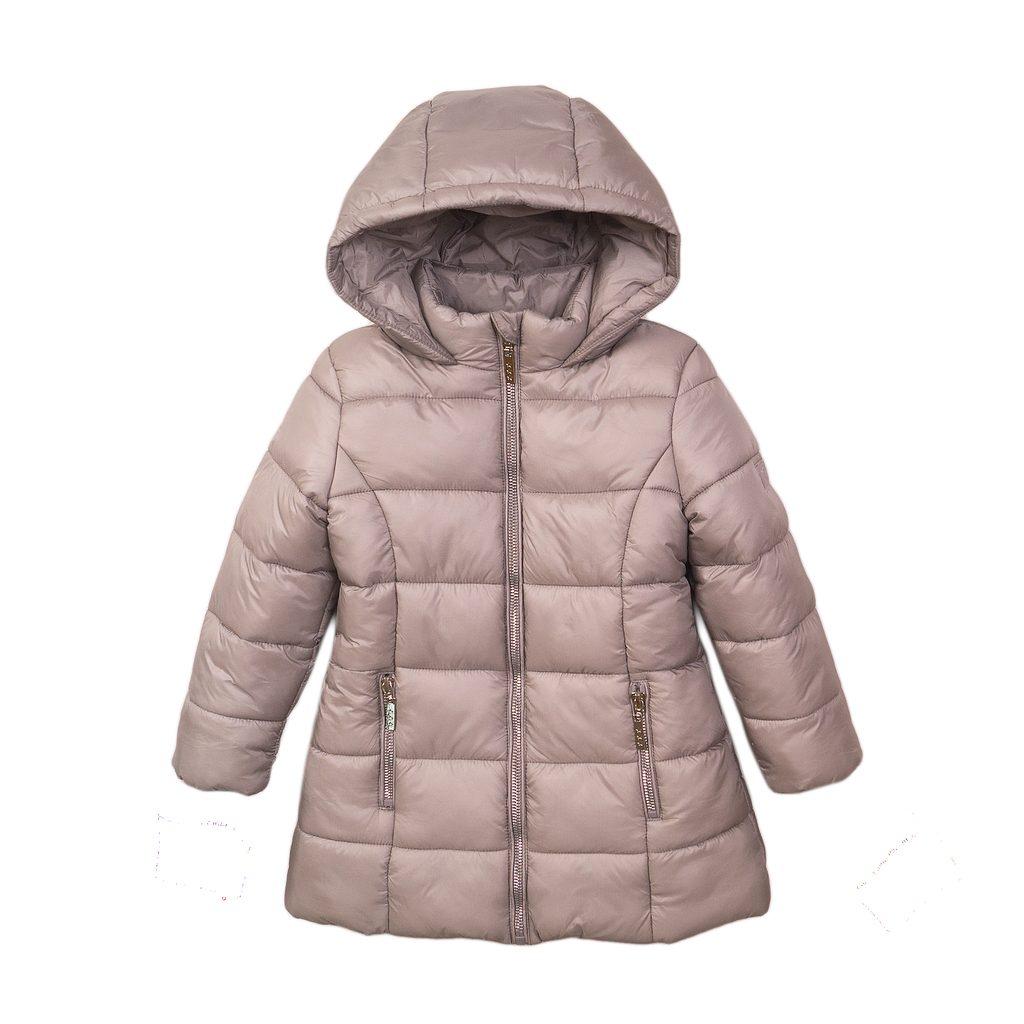 Kabát dívčí prošívaný Puffa, Minoti, JW2126, stříbrná - 98/104