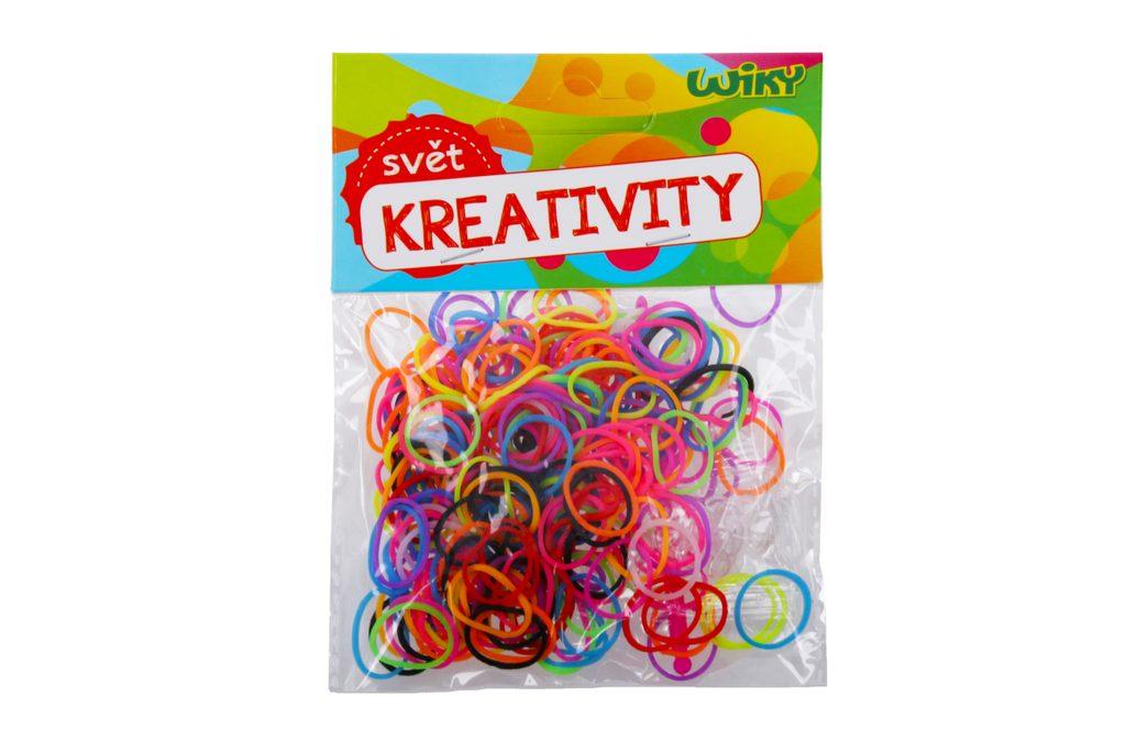 Kouzelné zaplétací gumičky jednobarevné, mix barev 200 ks, W011587