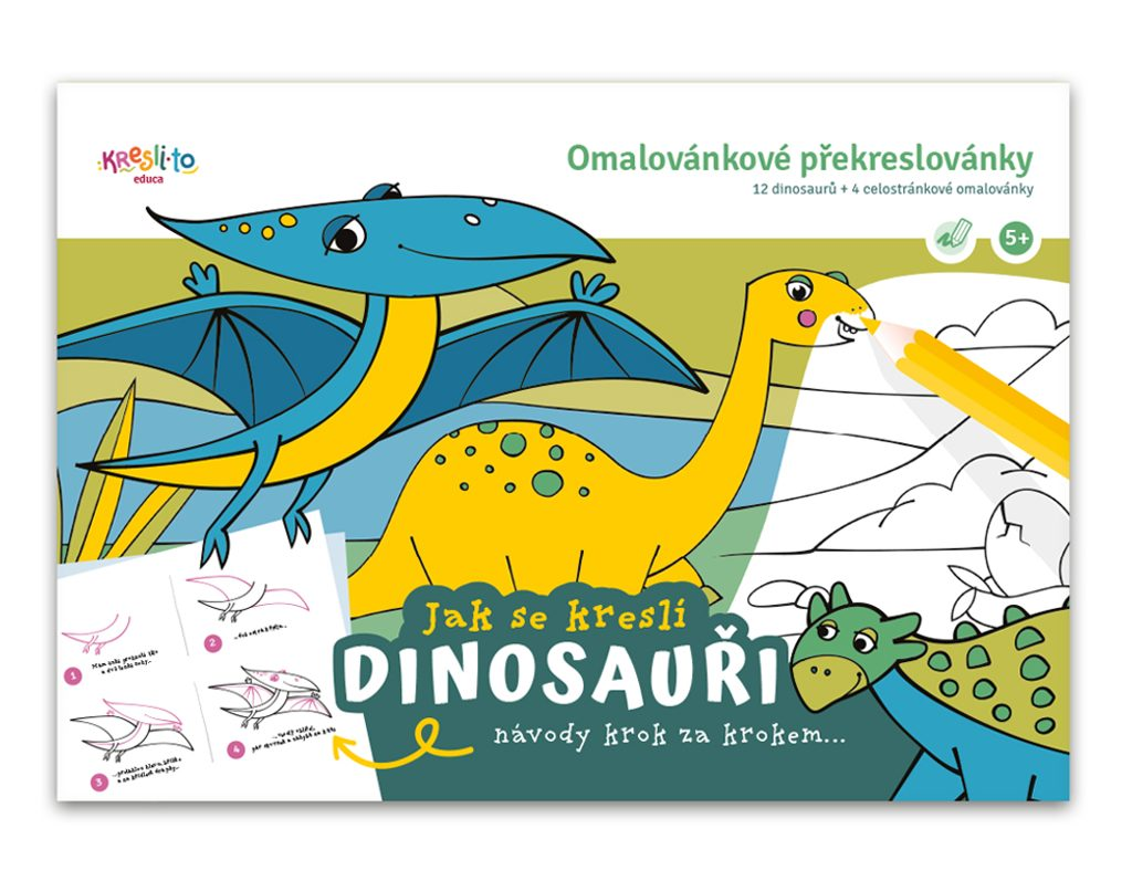 Pracovní sešit Učím se malovat - Dinosauři, Kresli.to, W011346
