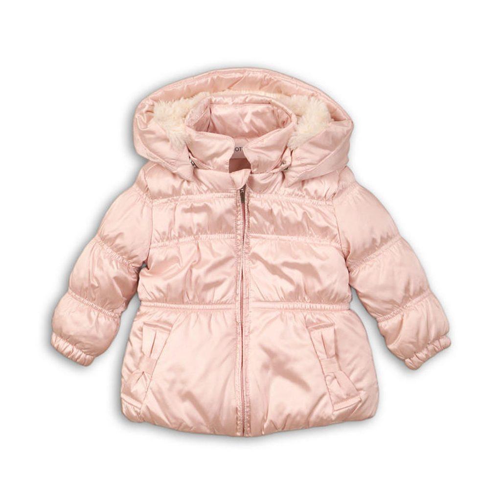 Bunda dívčí zimní Puffa, Minoti, DUSK 1, růžová - 98/104