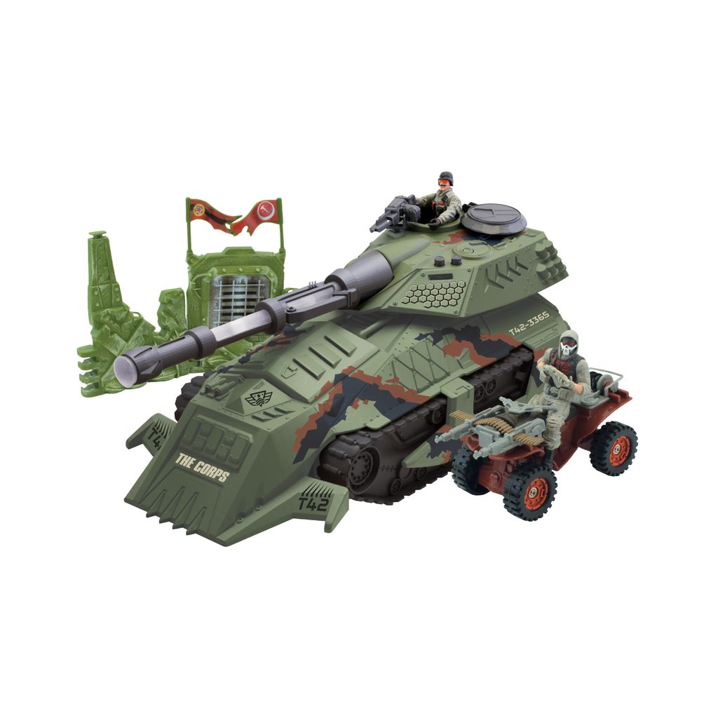 Tank s vojáky 2 ks, světelnými a zvukovými efekty 39 cm, The Corps, W001315