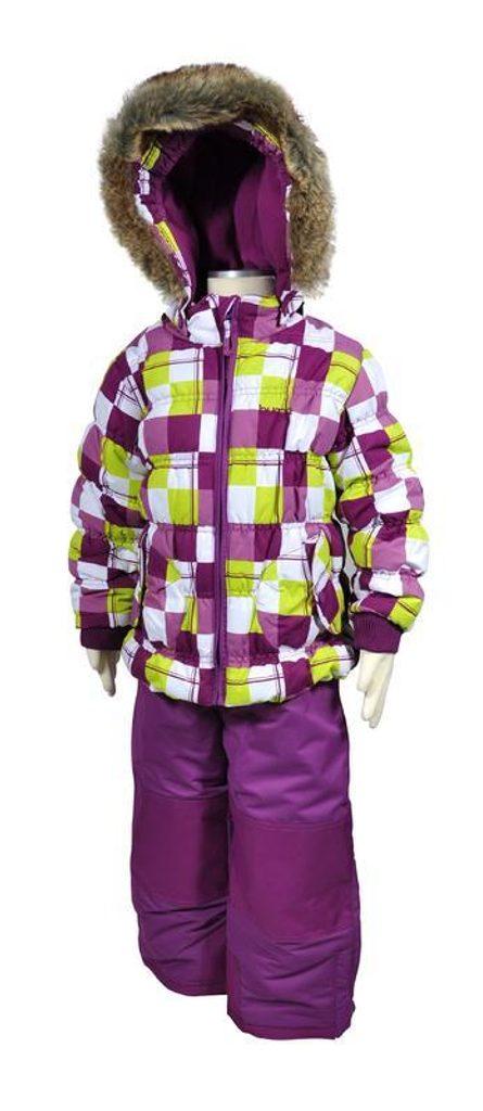 bunda zimní dívčí + kalhoty, Bugga, PD881, fialová - 152