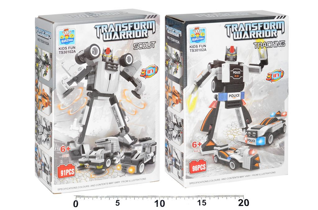 Robot stavebnice 3v1, 91 ks, Wiky, W110899