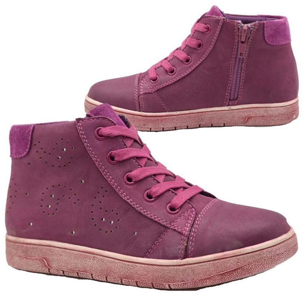 boty dívčí celoroční, Bugga, B00138-06, fialová - 32