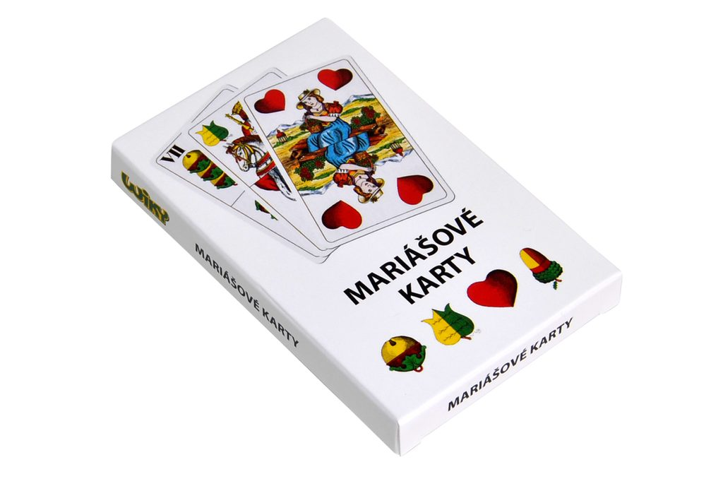 Karty Mariáš v papírové krabičce, Wiky, W202004