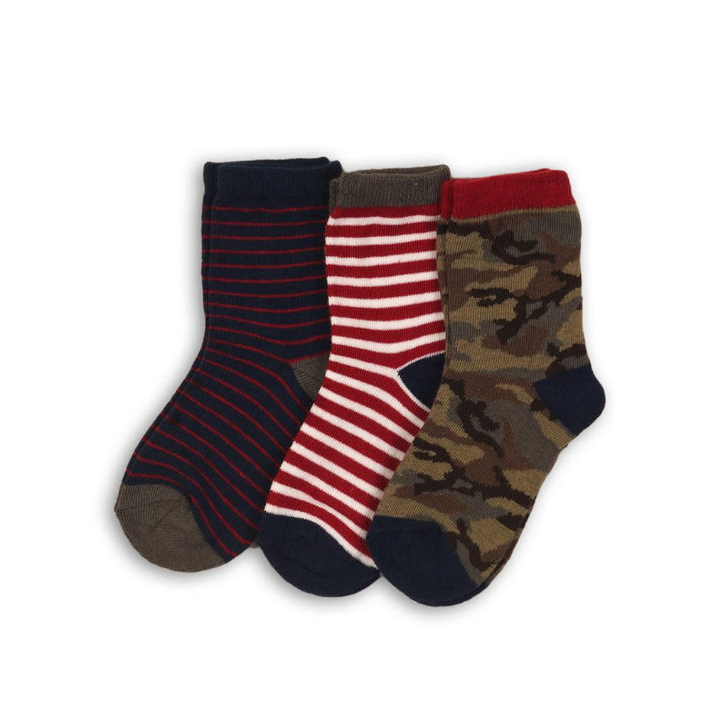 Ponožky chlapecké 3pack, Minoti, BROOK 13, kluk - 92/98