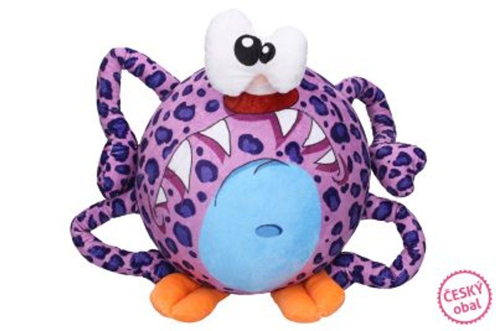 Nafukovací plyšový míč - Fialový pavouk 30 cm, W007525