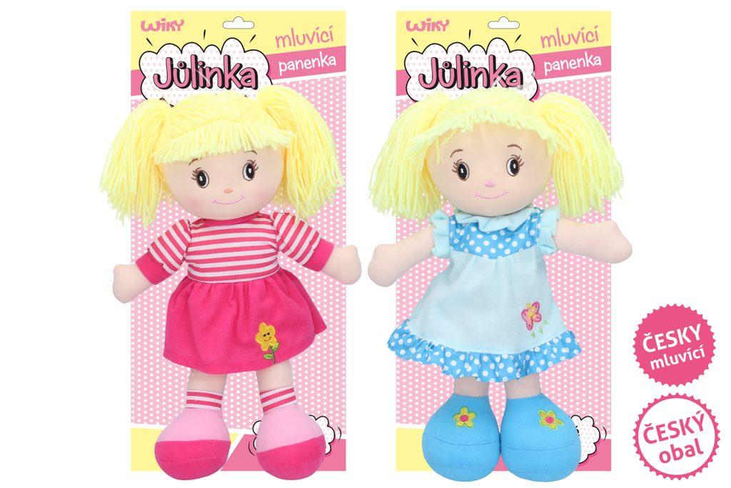 Mluvící panenka Jůlinka 40 cm (český obal, mluví česky), Wiky, W005105