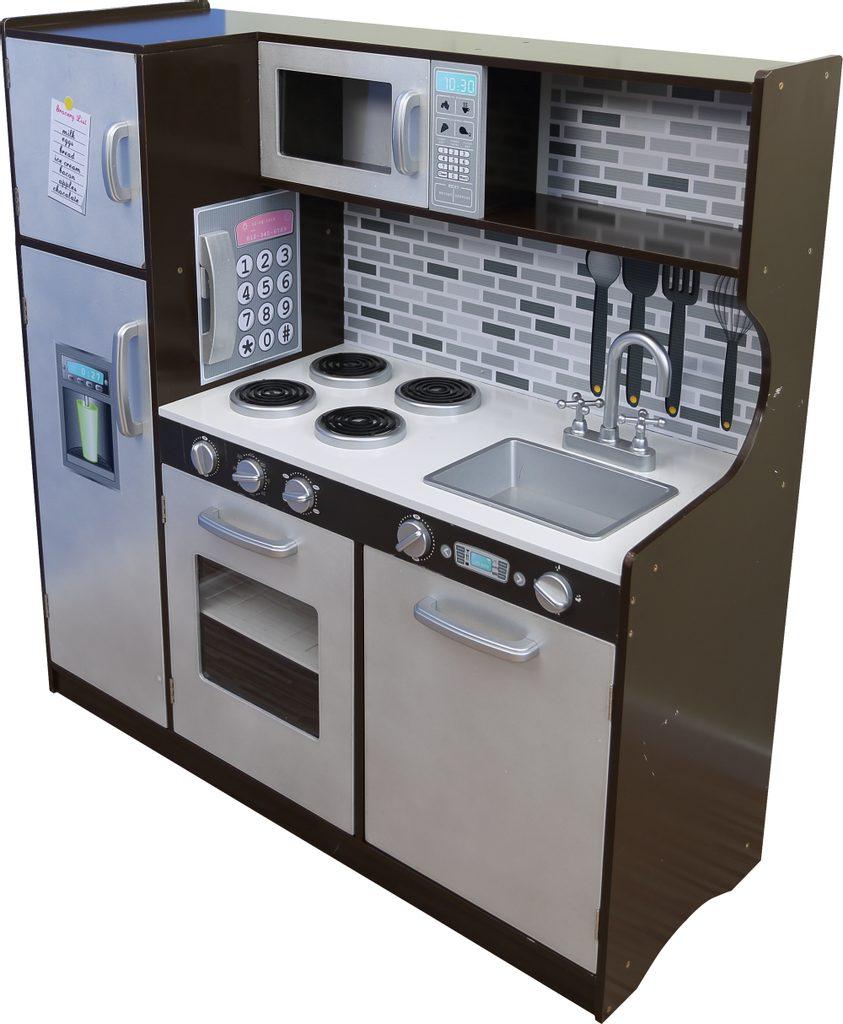 Kuchyňka s lednicí dřevěná 107x40x109 cm, W008223