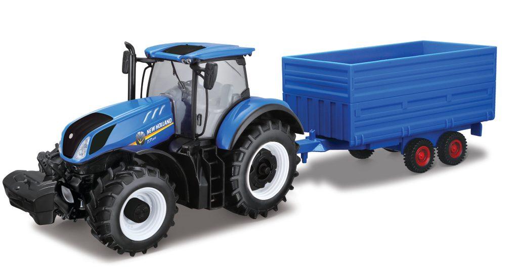 1/32 Traktor New Holland s vlečkou, Bburago, W000764