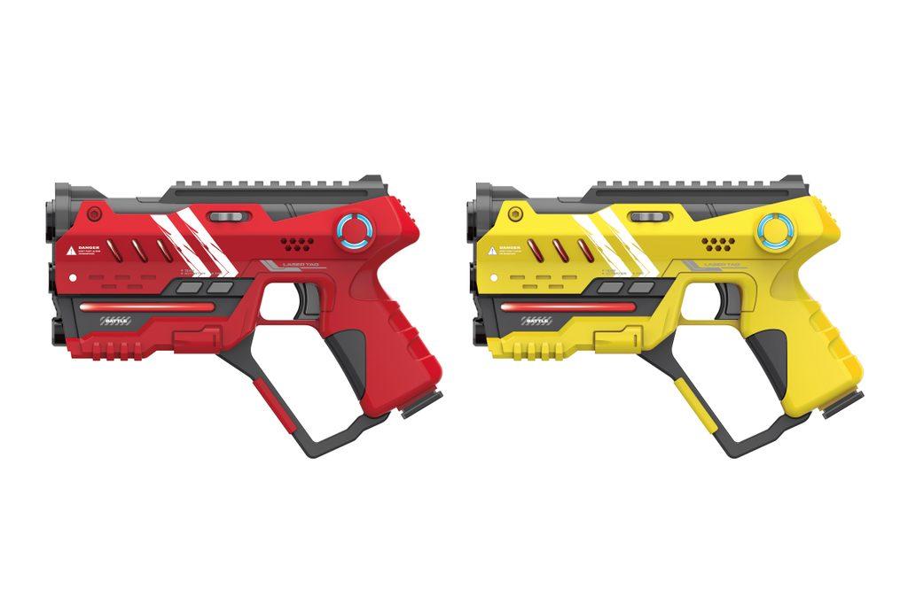 Laser hra pro dva 22 cm - žlutá a červená barva, Wiky, W006492