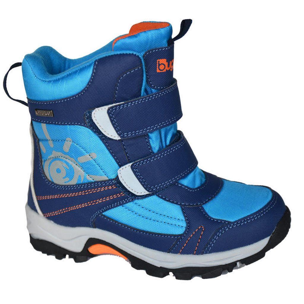 boty zimní 2 pásky, nepromokavá membrána, Bugga, B00128-04, modrá - 27