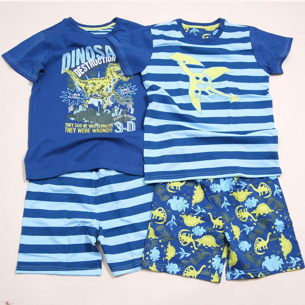 Pyžamo chlapecké  letní set 2ks, Pidilidi, PD808, modrá - 134/140