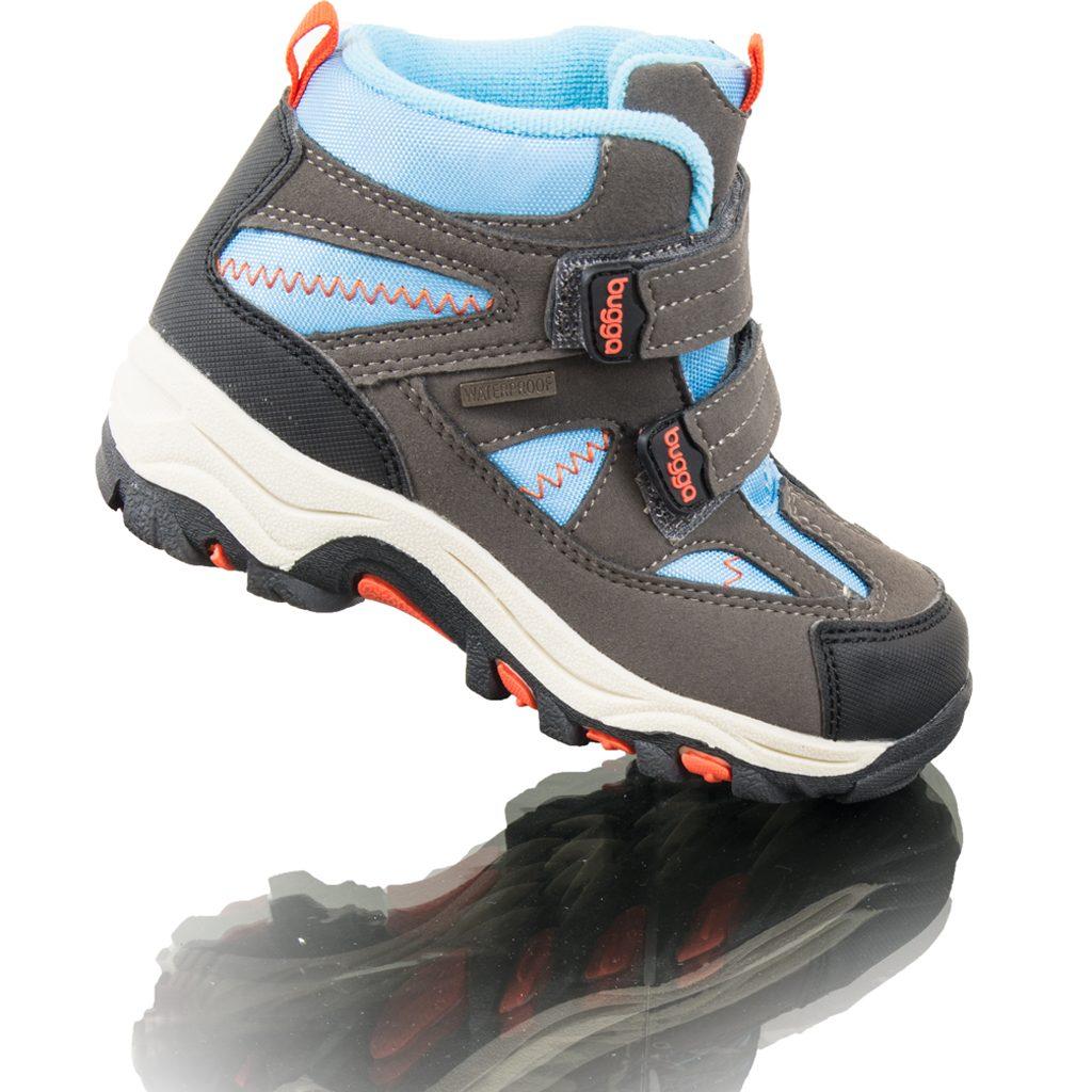 boty zimní 2 pásky, nepromokavá membrána, Bugga, B00126-04, modrá - 37