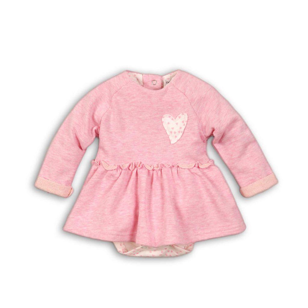 Šaty kojenecké se všitým body, Minoti, EYELASH 5, růžová - 74/80