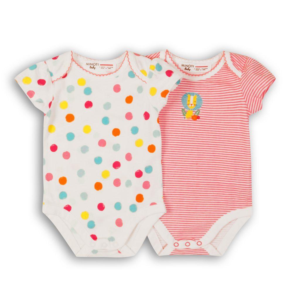 Body kojenecké 2pack, Minoti, Lullaby 7, holka - 74/80