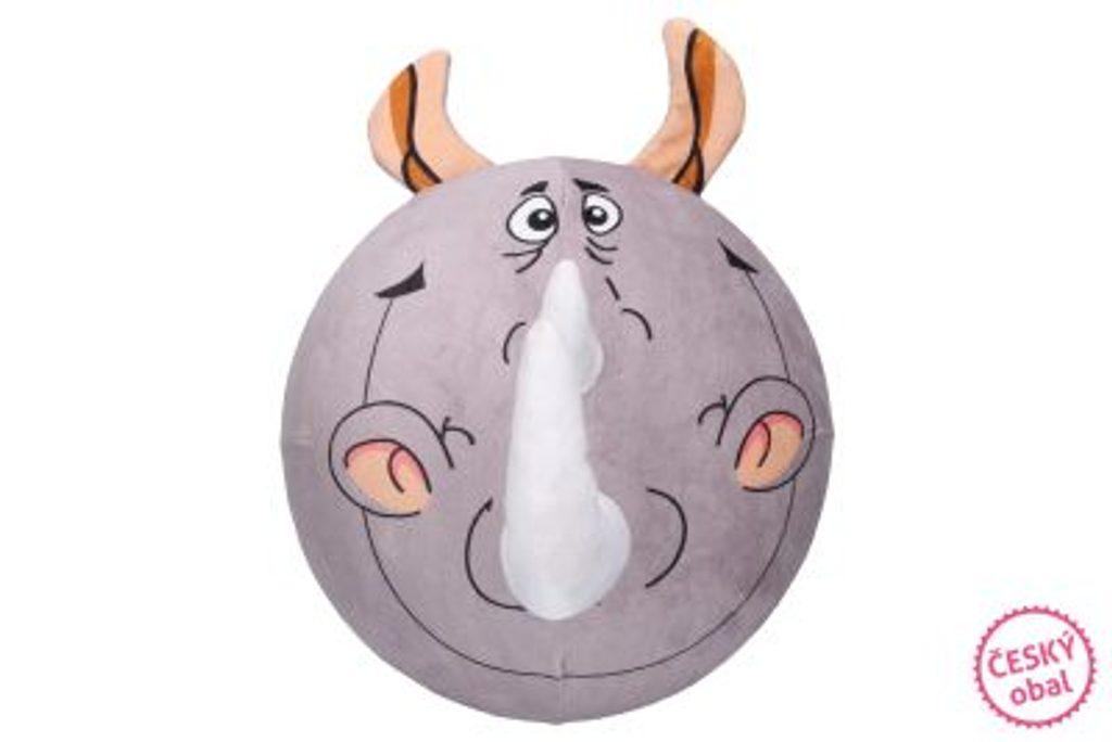 Nafukovací plyšový míč - Nosorožec 30 cm, W007529