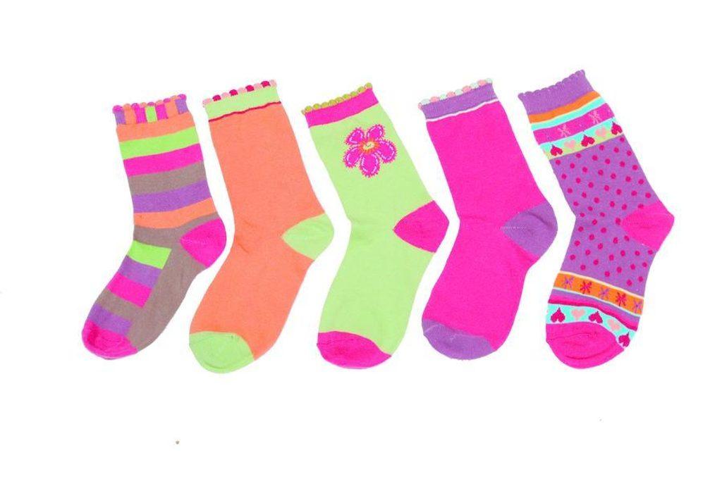 Dětské barevné ponožky, Pidilidi, PD513, holka - 18-19