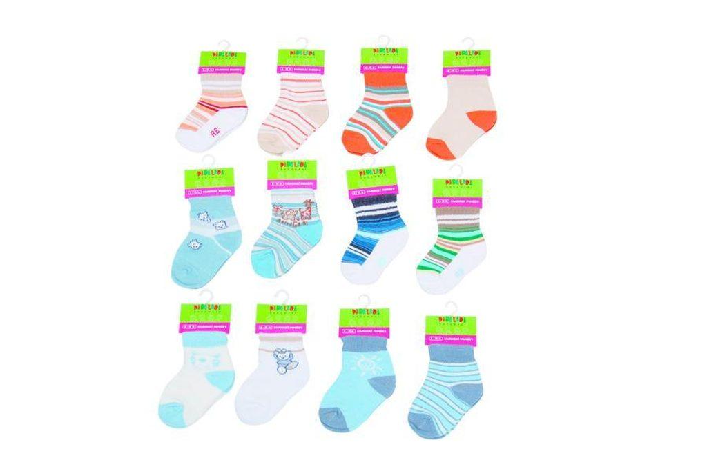 Kojenecké ponožky chlapecké (6 až 12m), Pidilidi, PD502, kluk - 68/80