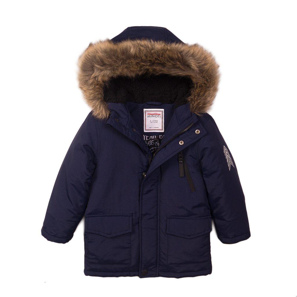 Kabát chlapecký prošívaný Pufa, Minoti, Crown 1, modrá - 80/86