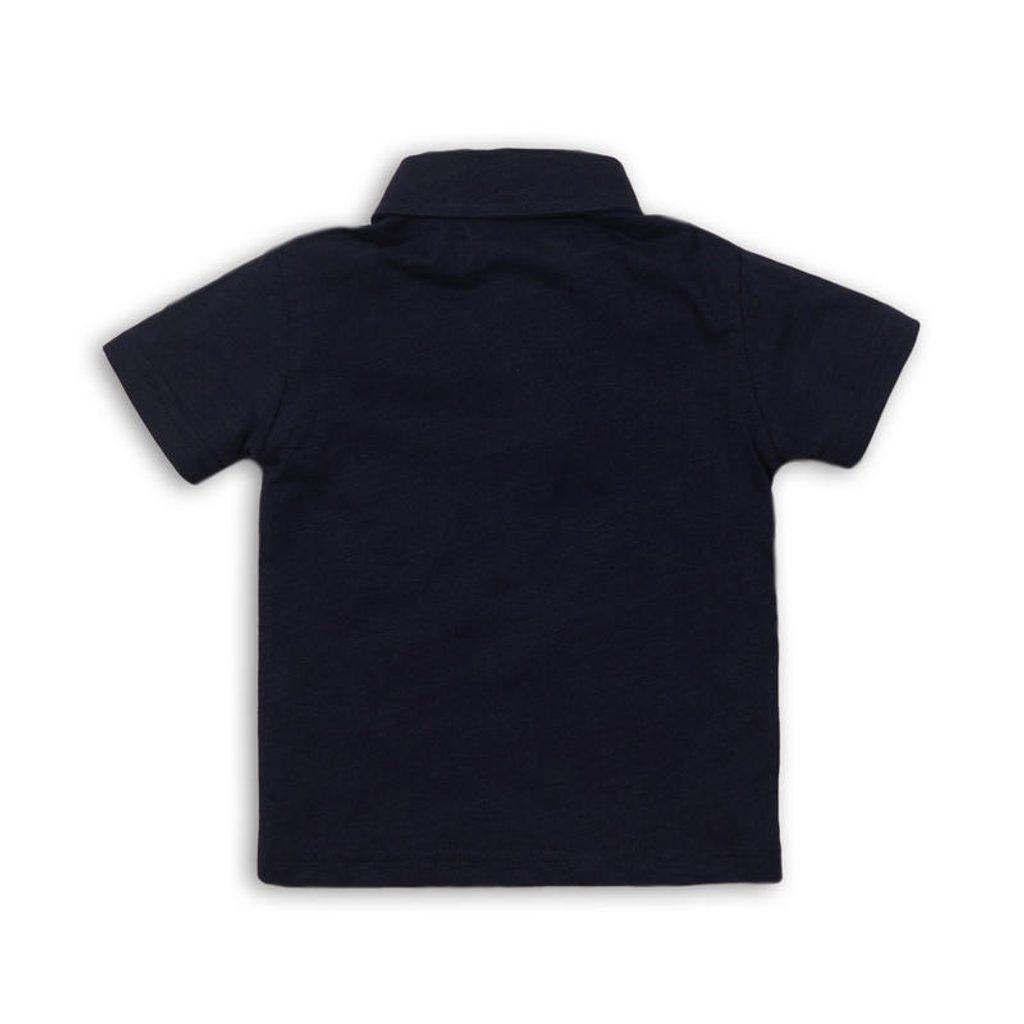Tričko chlapecké Polo s krátkým rukávem, Minoti, REAL 9, modrá - 86/92