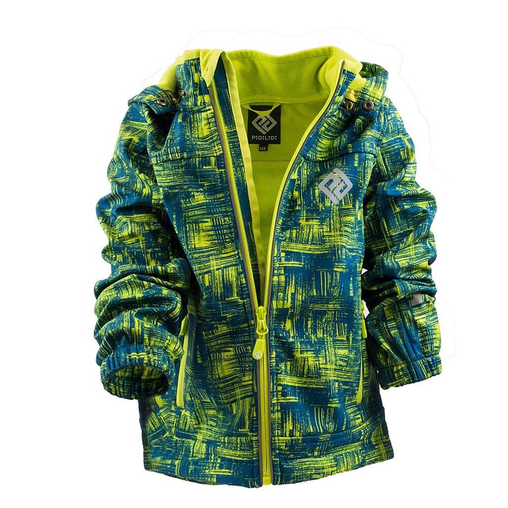 bunda softshellová chlapecká s kapucí, Pidilidi, PD1089-04, kluk - 98