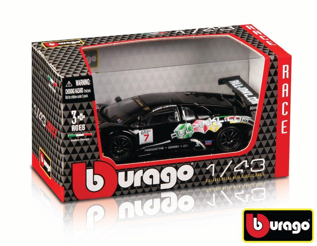 Bburago 1:43 Race (3 x 24 DISPLAY) 72ks ASST, Bburago, W007370