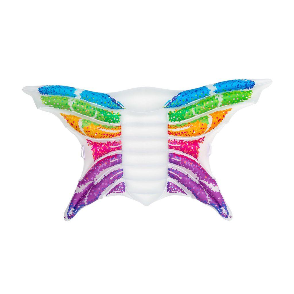 Nafukovací lehátko - duhový motýl, 294x193 cm, Bestway, W004718