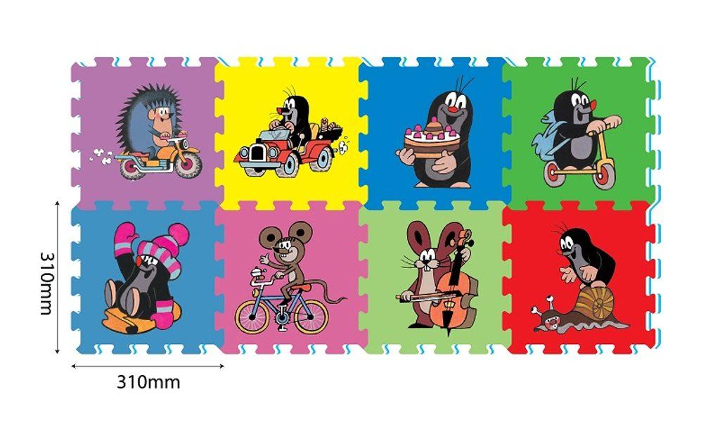 Pěnové puzzle krtek 30x30 8ks, HM studio, W004361
