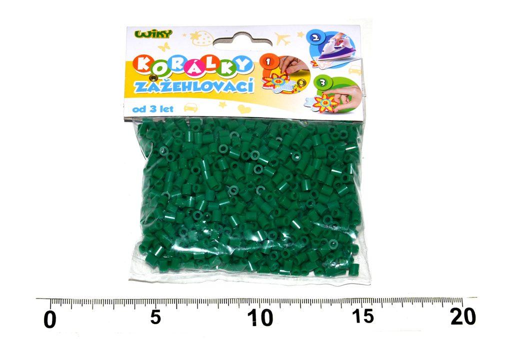 Korálky zažehlovací 1000 ks - tm. zelené, Wiky kreativita, W116699