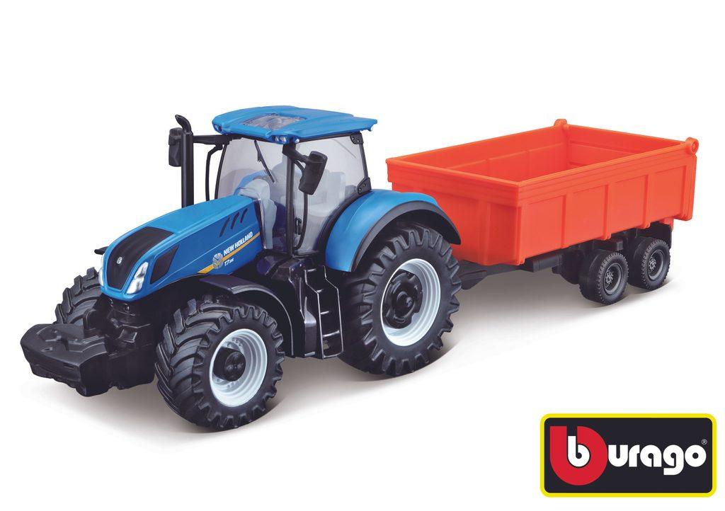 Bburago Farm Tractor s vlečkou Assort 10 cm (12ks), Bburago, W007377