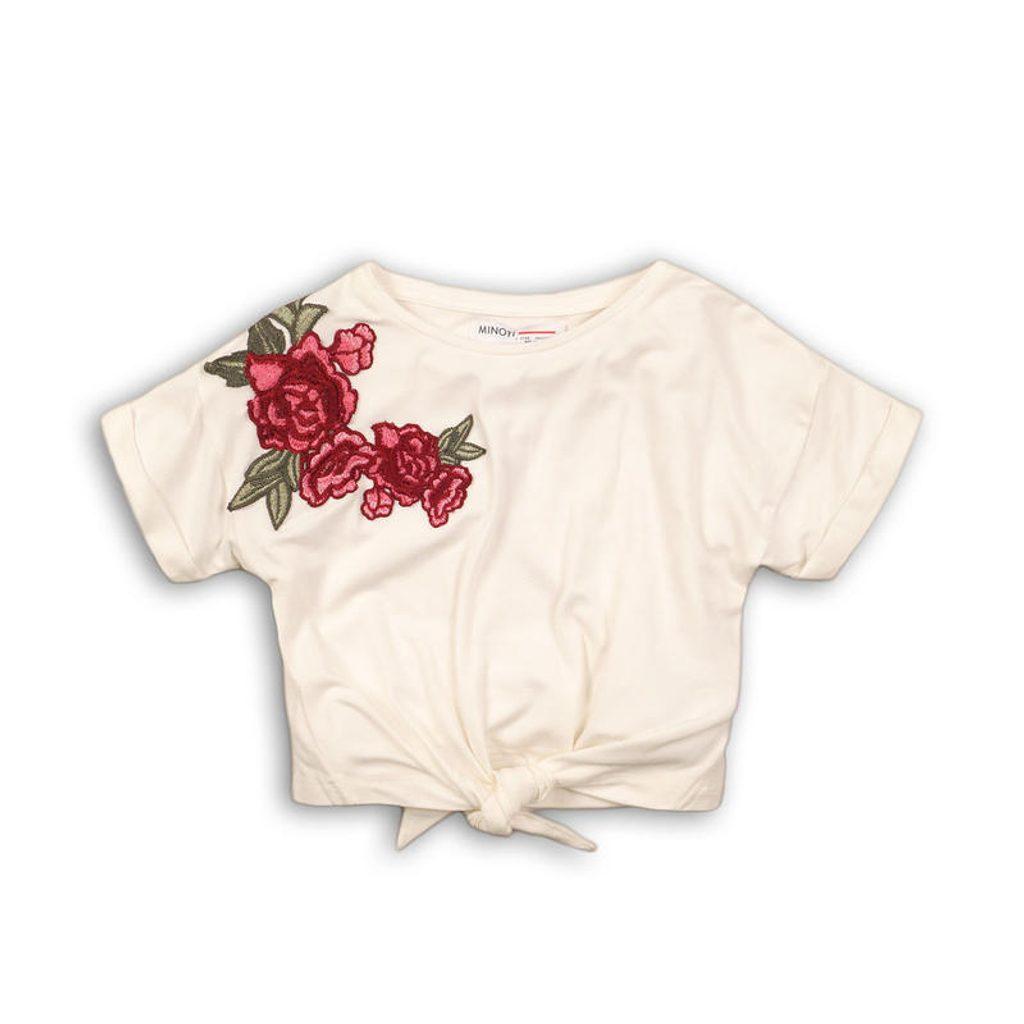 Tričko dívčí s krátkým rukávem, Minoti, UTILITY 4, bílá - 98/104