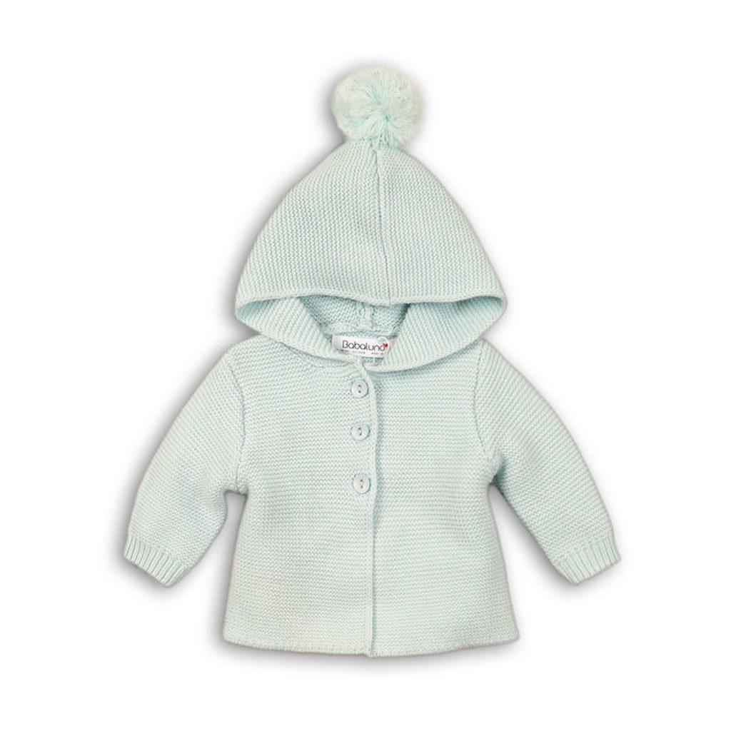 Kabátek kojenecký úpletový, Minoti, BUNNY 7, modrá - 68/74