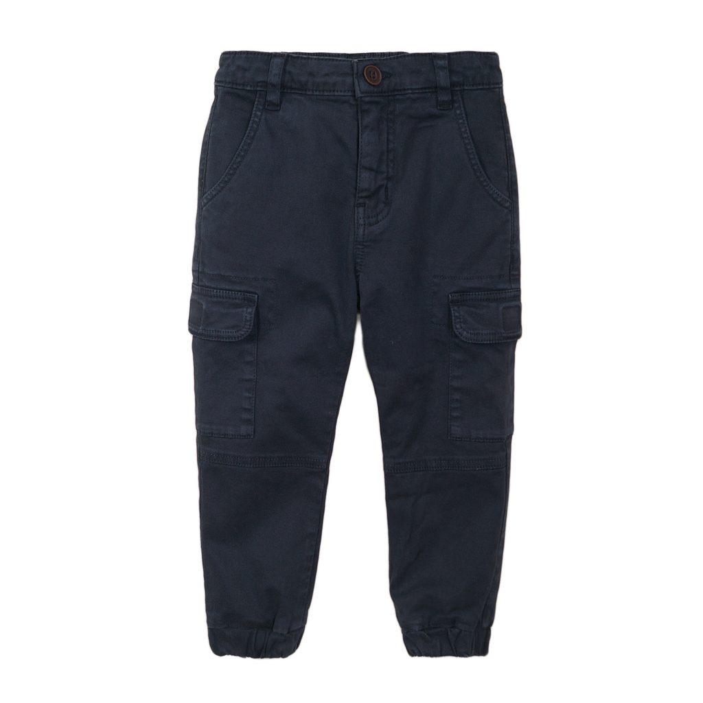 Kalhoty chlapecké s elastanem, Minoti, 3BCOMBAT 1, modrá - 98/104