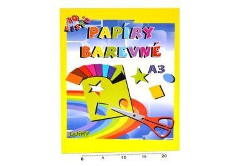 Papíry barevné W A3, 10 listů, 180g, WIKY, 886465