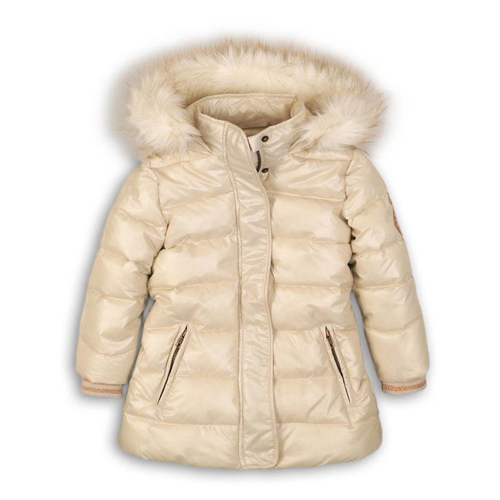 Kabát dívčí zimní Puffa, Minoti, TOASTED 4, béžová - 152/158