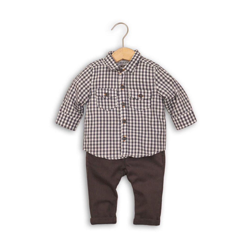 Kojenecký set, košile a kalhoty, Minoti, GREY 6, šedá - 86/92