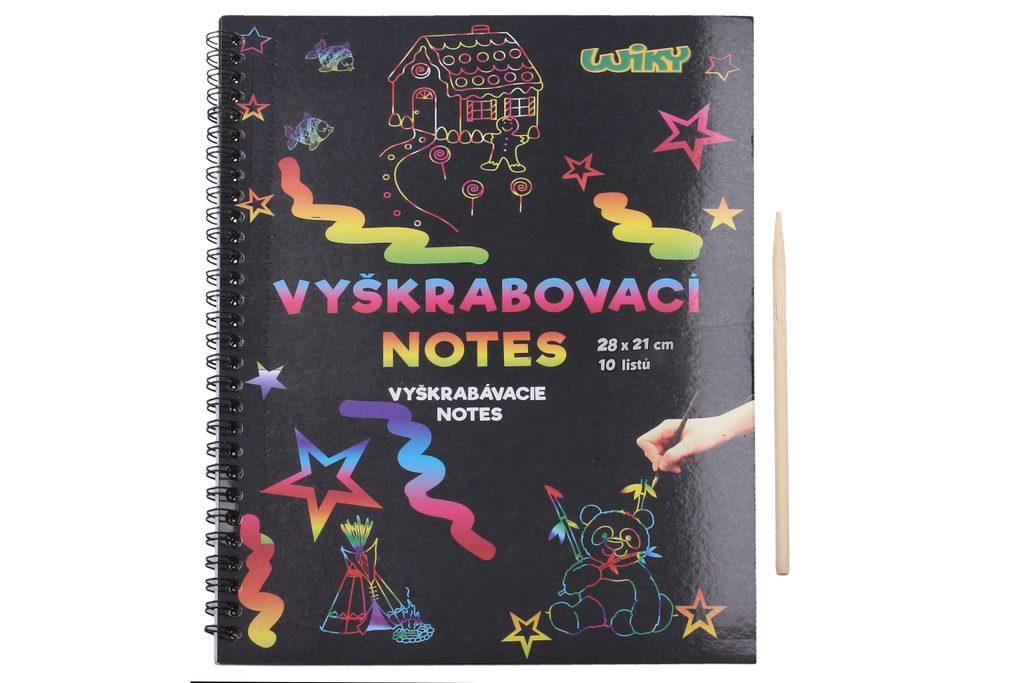 Vyškrabovací notes 28x21, 10listů, W010970