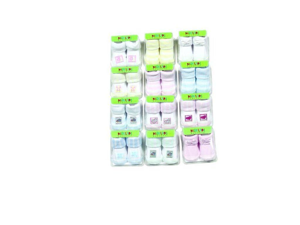 ponožky kojenecké v krabičce (0 až 6m), Pidilidi, PD106, mix - 0-6m