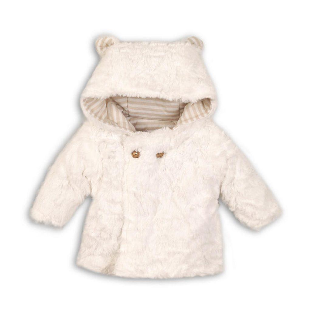 Kabátek zimní kojenecký chlupatý, Minoti, ELE 6, béžová - 68