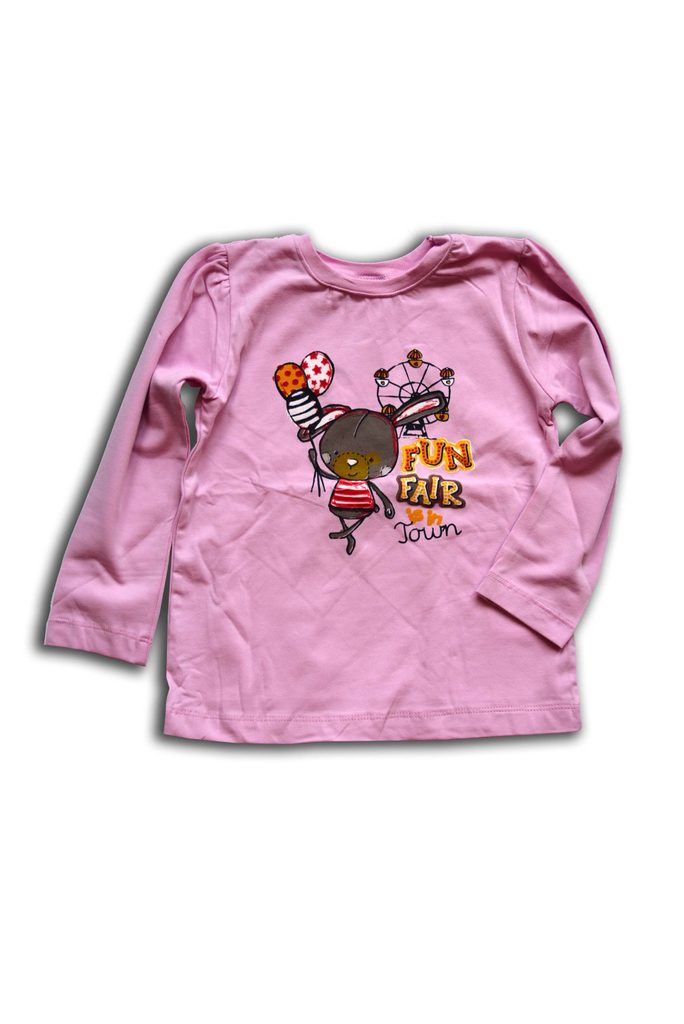 tričko dívčí, dlouhý rukáv, Wendee, OZKB102579-0, růžová - 98