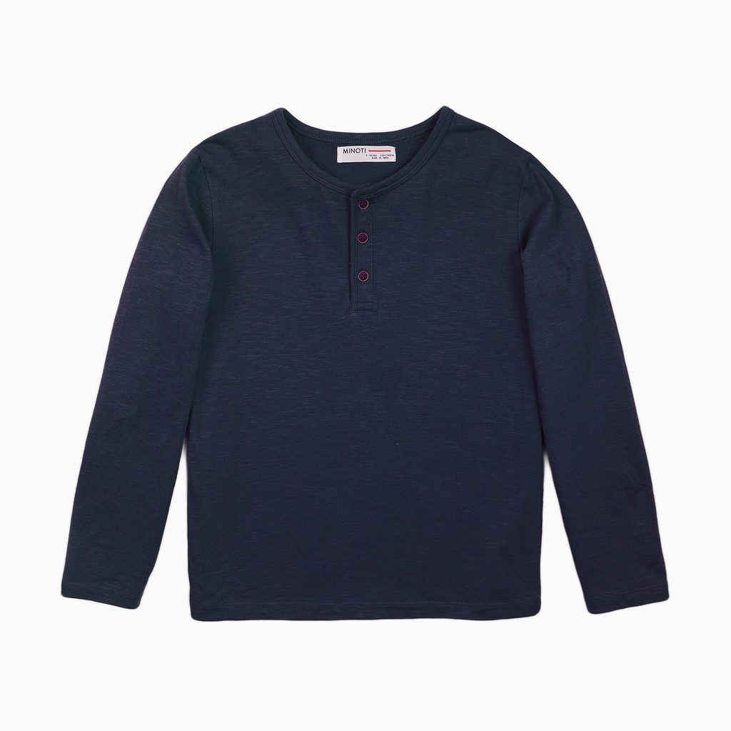 Tričko chlapecké s dlouhým rukávem, Minoti, 3BHENLEY 5, modrá - 98/104