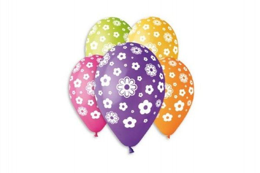 Balónek nafukovací - sada 5ks KVĚTINY, Smart Balloons, W000008