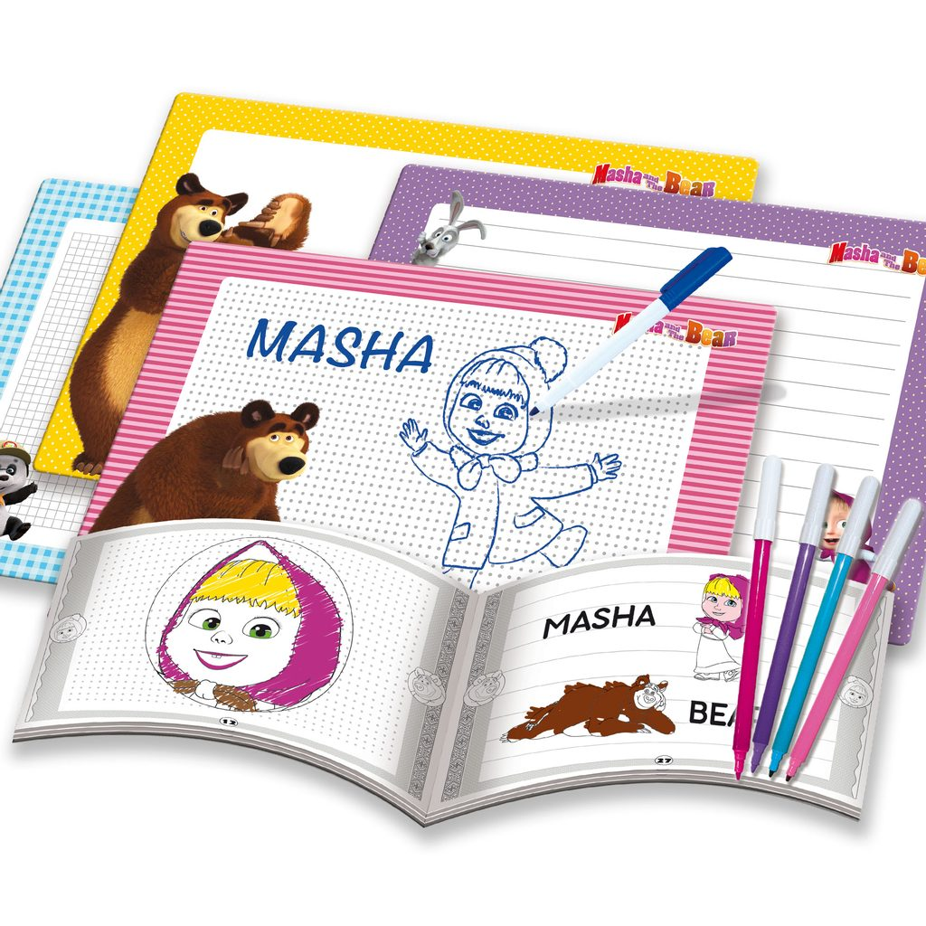 Lisciani Kreslící tabulky Máša a medvěd, Lisciani, W009357