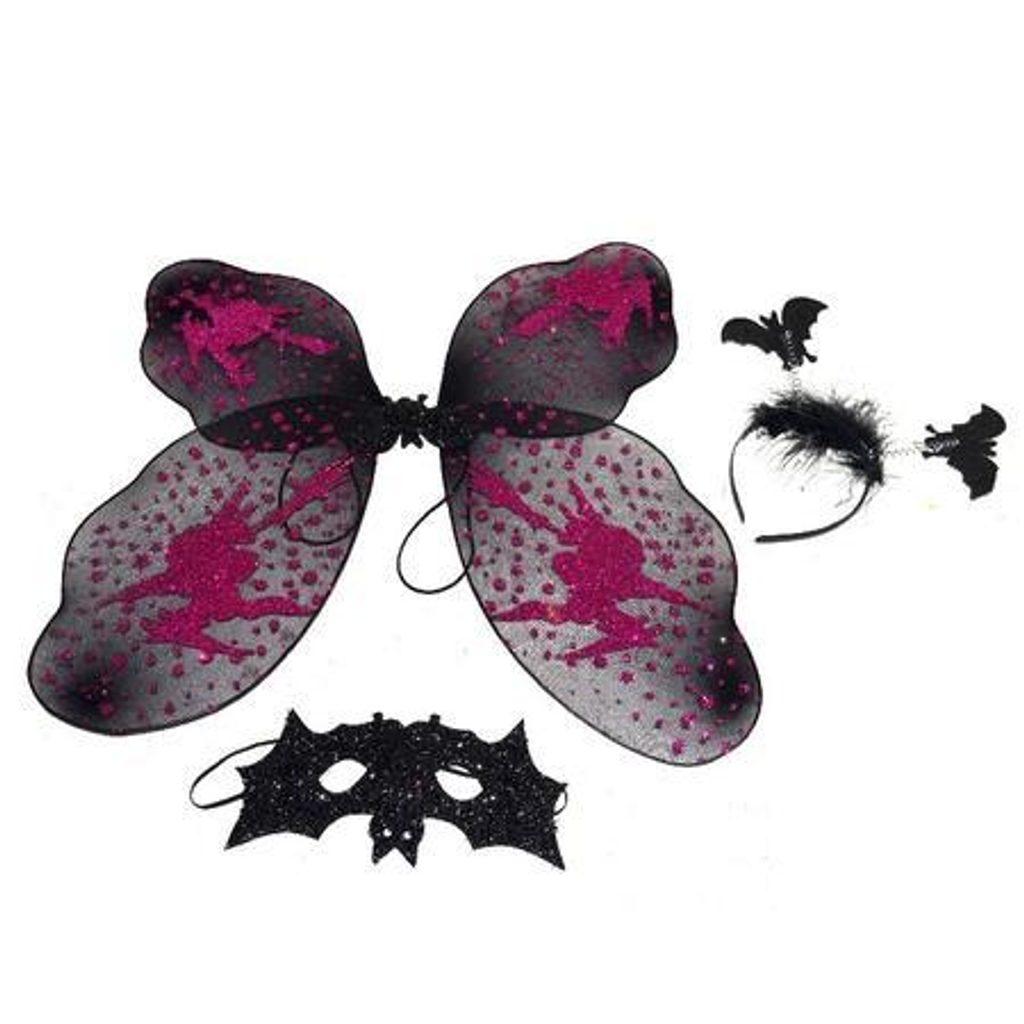 Čarodějnický karneval set s křídly, Wiky, W880283