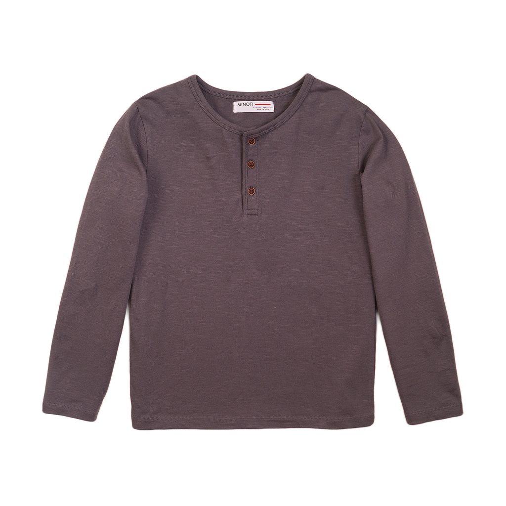 Tričko chlapecké s dlouhým rukávem, Minoti, 3BHENLEY 4, šedá - 98/104