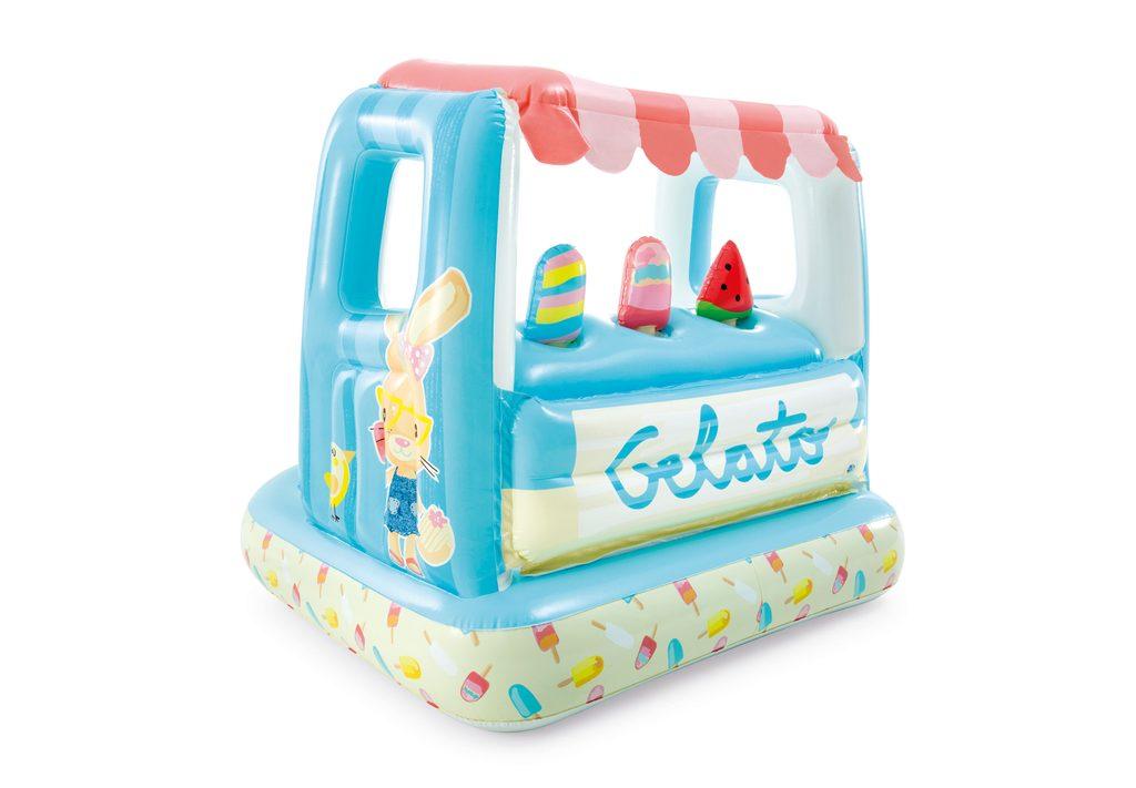 Nafukovací hrací domeček zmrzlina, INTEX, W004402