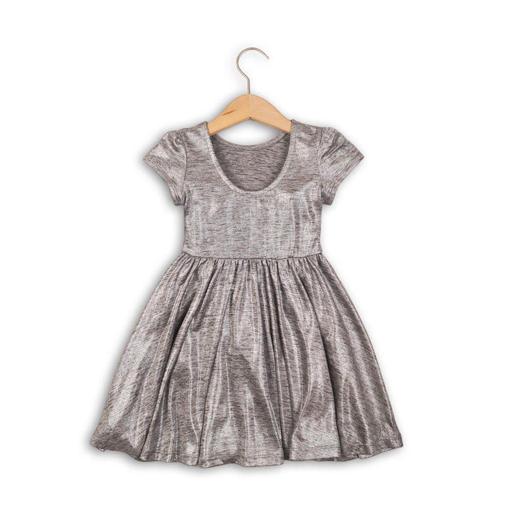 Šaty dívčí, Minoti, SHIMMER 4, šedá - 122/128